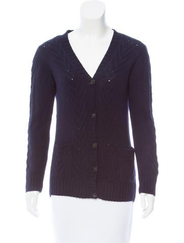 A.P.C. Merino Wool Button-Up Cardigan None