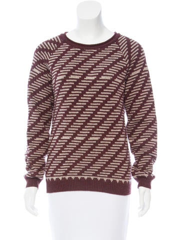A.P.C. Patterned Wool Sweater None