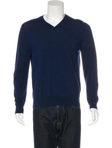 A.P.C. Wool V-Neck Sweater None
