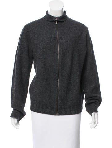 A.P.C. Wool Zip-Up Cardigan None