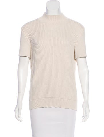 A.P.C. Knit Mock Neck Top None