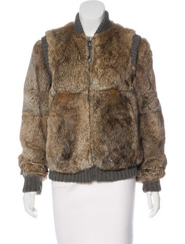 A.P.C. Knit-Trimmed Fur Jacket None