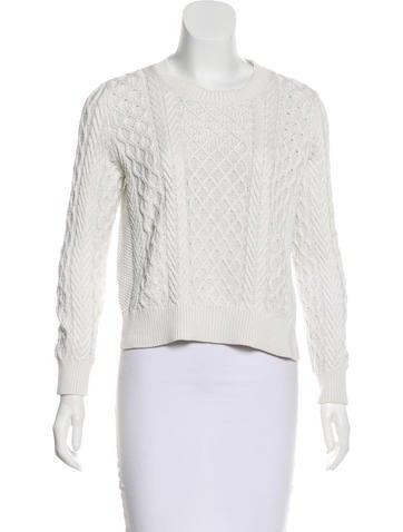 A.P.C. White Silk-Blend Sweater None