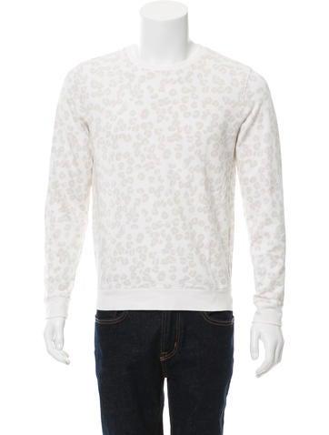 A.P.C. Leopard Print Crew Neck Sweatshirt None