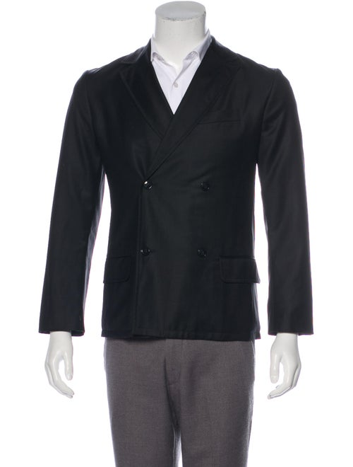 A.p.c. Wool Double-Breasted Blazer black