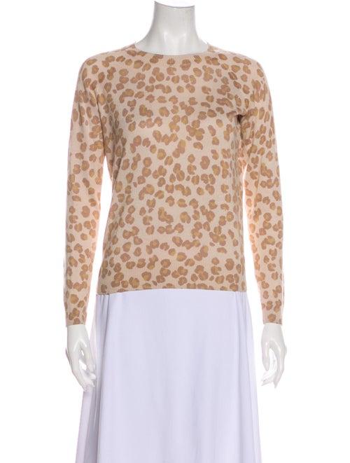 A.p.c. Silk Animal Print Sweater