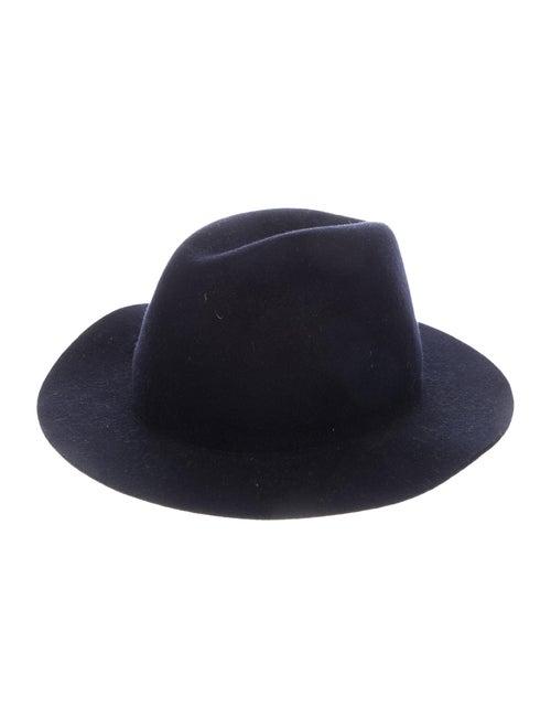 A.p.c. Wool Fedora Hat Navy