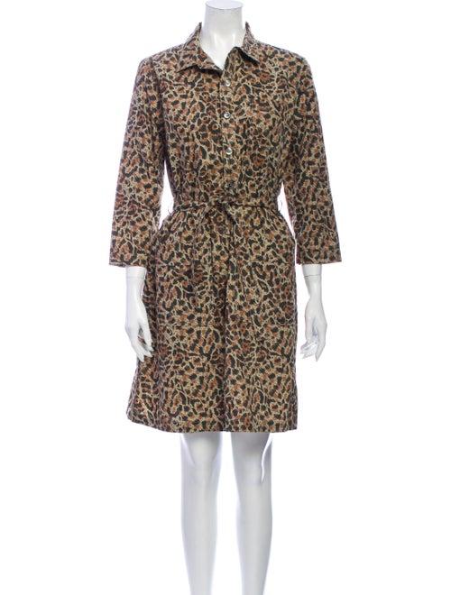 A.p.c. Animal Print Knee-Length Dress