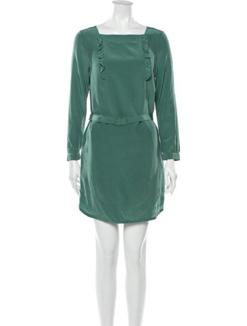 A.p.c. Silk Mini Dress Green