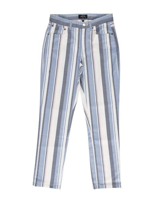 A.p.c. Mid-Rise Straight Leg Jeans Blue