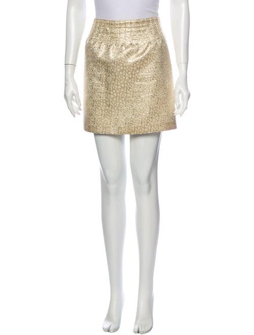 A.p.c. Printed Mini Skirt Gold