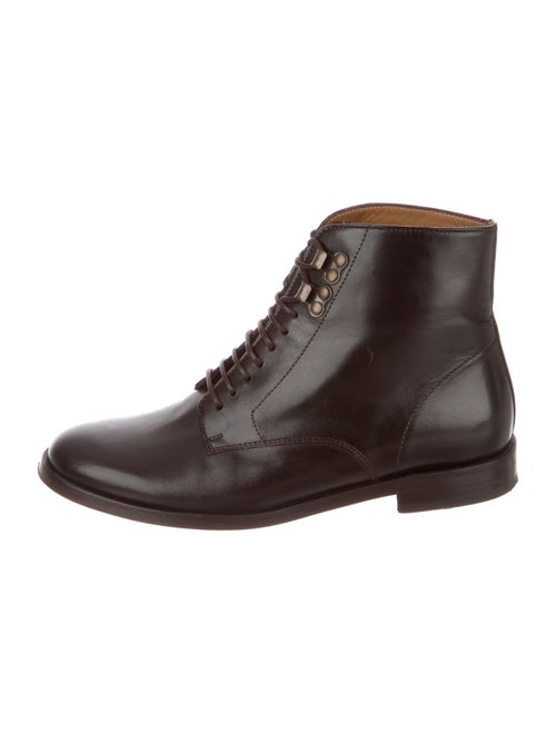 A.p.c. Leather Combat Boots Brown