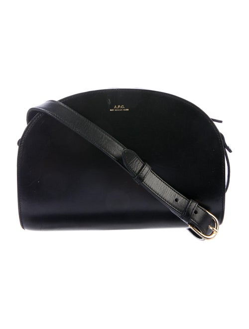 A.p.c. Half Moon Leather Crossbody Bag Black