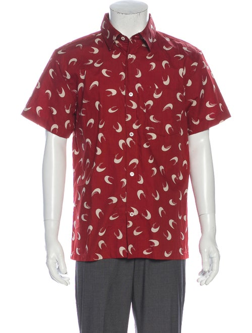 A.p.c. Graphic Print Short Sleeve Shirt Red