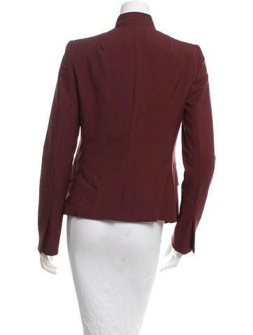 Wool Open Front Blazer