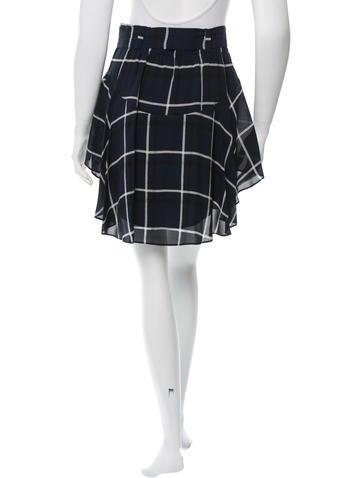 Plaid Silk Skirt