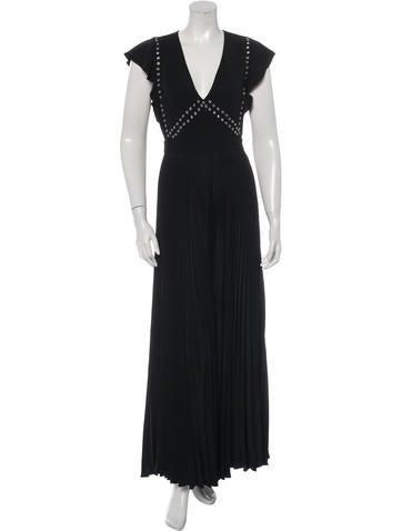 A.L.C. Pleated Grommet Dress
