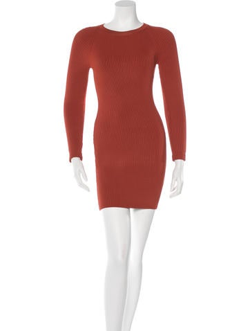 A.L.C. Long Sleeve Mini Dress None