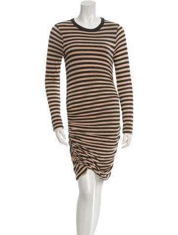 A.L.C. Striped Long Sleeve Dress None