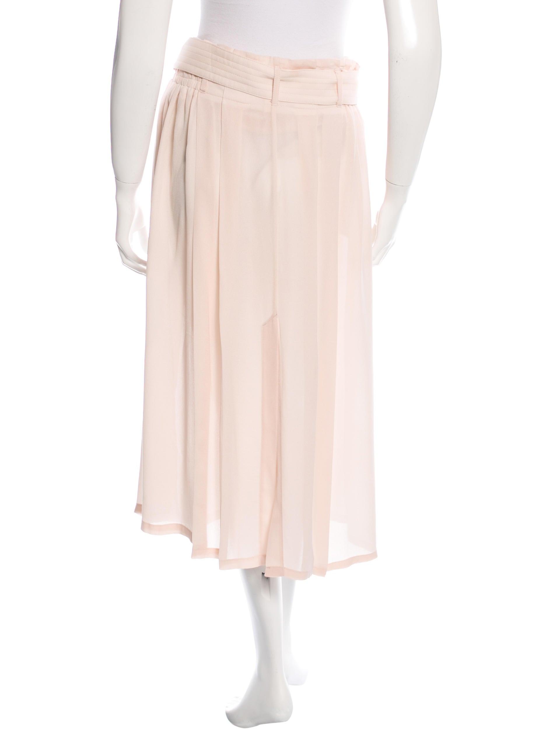 a l c silk midi skirt clothing wa430434 the realreal