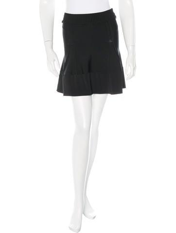 A.L.C. Rib Knit A-Line Skirt None