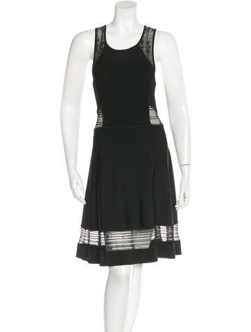 A.L.C. Mesh-Paneled Sleeveless Dress None