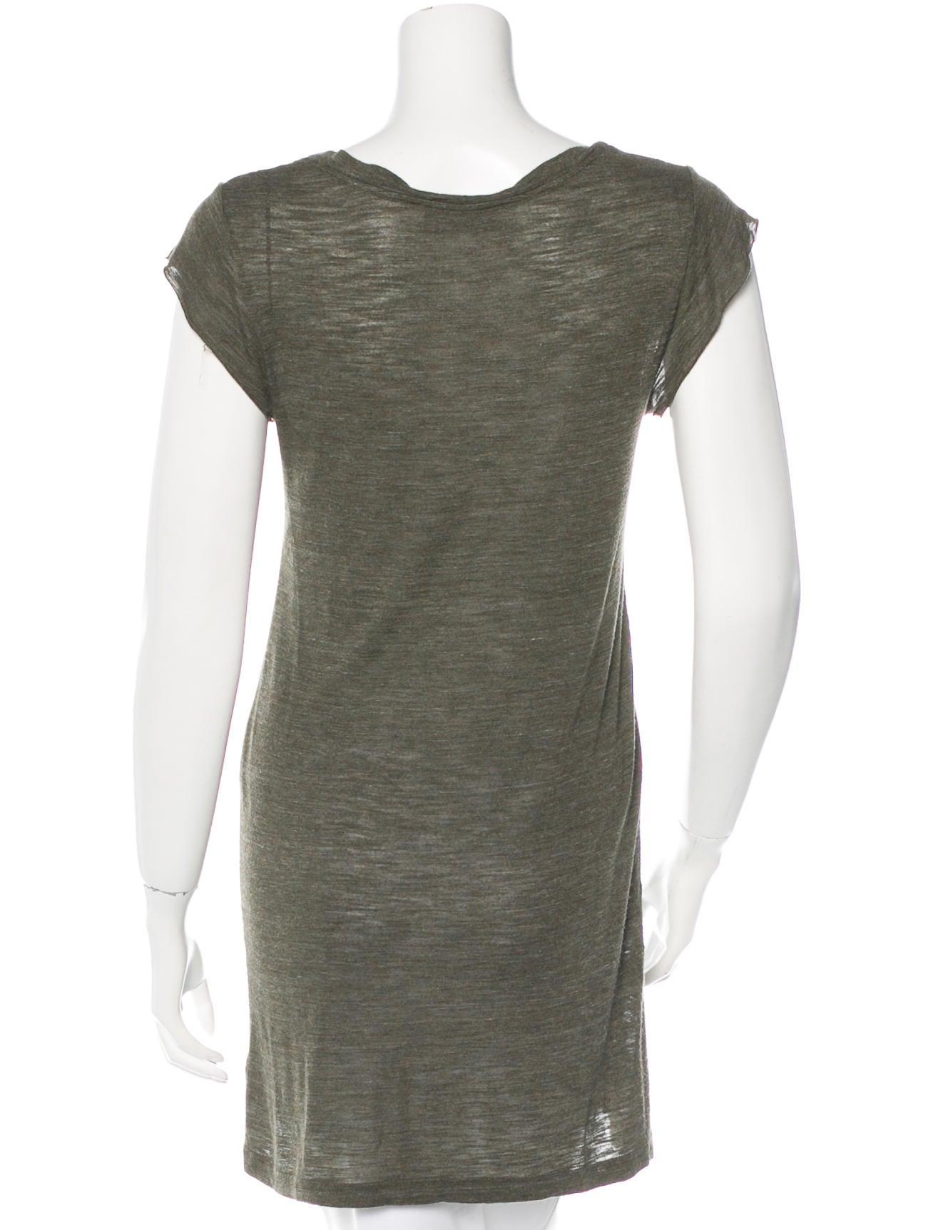 A l c raw edge v neck t shirt clothing wa430841 the for Raw edge t shirt women s
