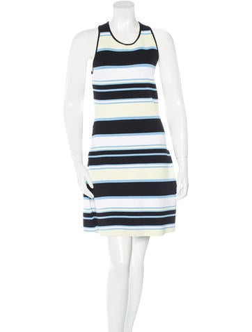 A.L.C. Striped Sleeveless Dress None