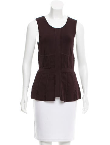 A.L.C. Sleeveless Peplum Top None