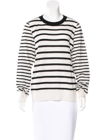 A.L.C. Merino Wool & Cashmere-Blend Striped Top None