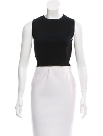 A.L.C. Sleeveless Cropped Top None