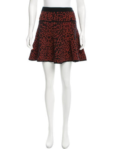 A.L.C. Patterned Flared Skirt None