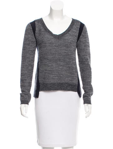 A.L.C. Wool V-Neck Sweater None