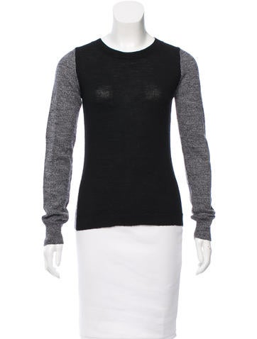 A.L.C. Wool Colorblock Top None