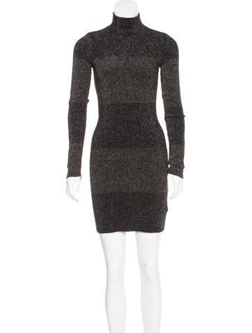 A.L.C. Wool Metallic Dress None