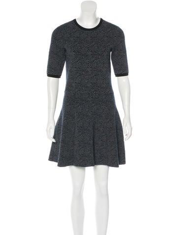 A.L.C. Jacquard A-Line Dress None