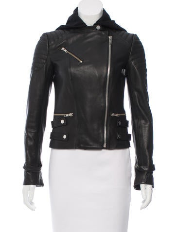 A.L.C. Hooded Leather Jacket None