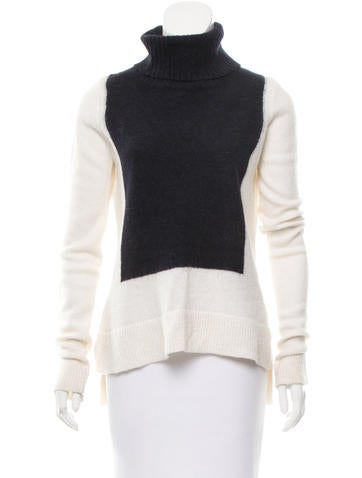A.L.C. Colorblock Turtleneck Sweater None