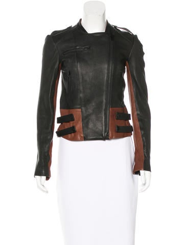 A.L.C. Asymmetrical Leather Jacket w/ Tags None