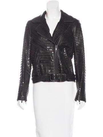 A.L.C. Embellished Leather Jacket None
