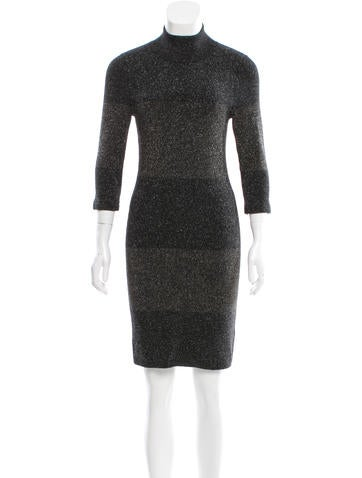 A.L.C. Metallic Wool Dress None