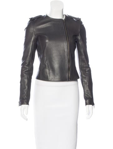 A.L.C. Leather Moto Jacket None