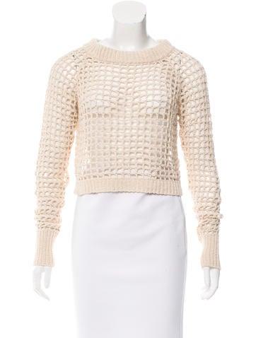 A.L.C. Open Knit Crop Sweater None