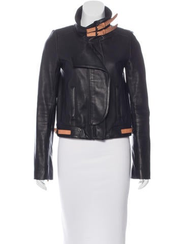 A.L.C. Leather Long Sleeve Jacket None