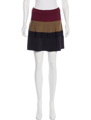 A.L.C. Colorblock Mini Skirt None