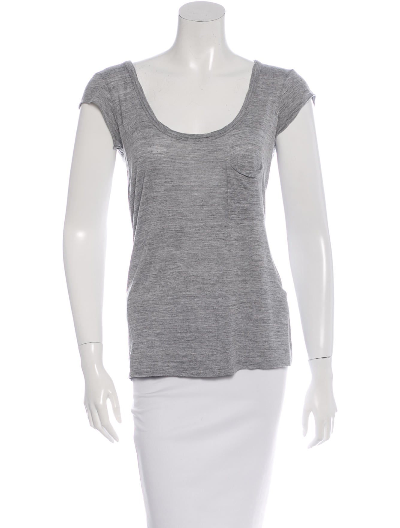 A L C Low Scoop Neck T Shirt Clothing Wa433033 The