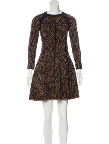 A.L.C. Wool-Blend Jacquard Dress None