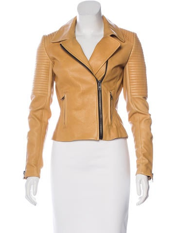 A.L.C. Collared Leather Jacket None