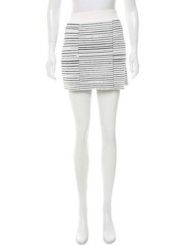A.L.C. Striped Mini Skirt None