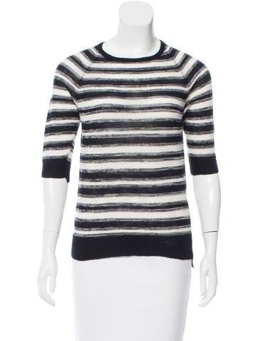 A.L.C. Striped Semi-Sheer Sweater None